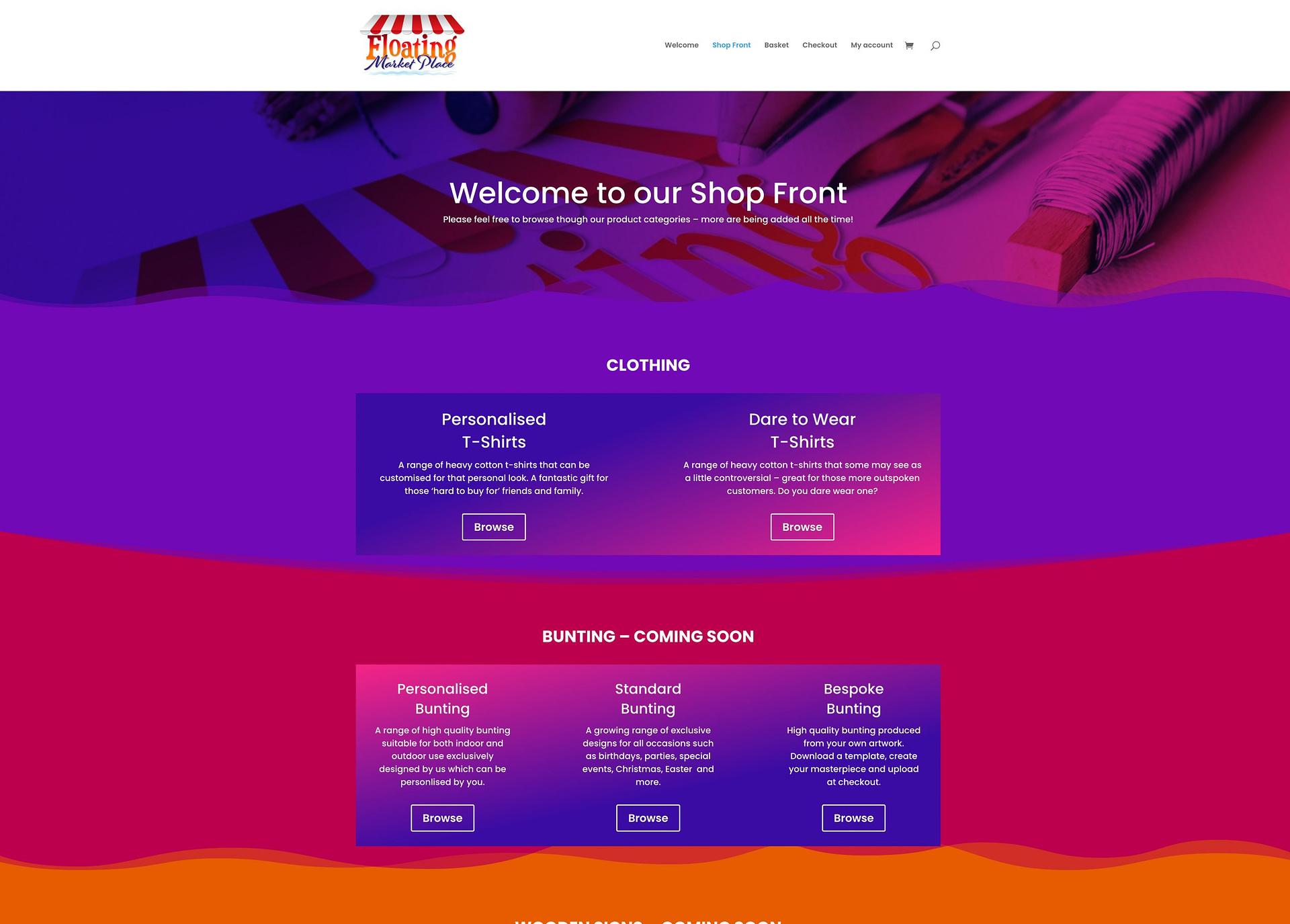 E-Commerce Shop Front